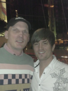 Ken Summerville of PRVegas.com with Cody Collins former singer of Lone Star